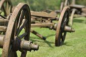 image of wagon wheel  - Wagon with wooden wheels - JPG