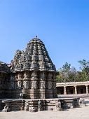 pic of karnataka  - The outside of the shrines of Keshava at the 13th Century temple of Somanathapur - JPG