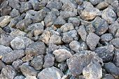 stock photo of rocking  - stone rock texture - JPG
