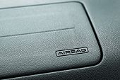 picture of car symbol  - Airbag Symbol on Car Compartment in front of the passenger seat - JPG