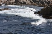 image of tide  - This is an image of high tide at Point Lobos State Reserve