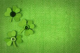 picture of celtic  - St Patricks Day green burlap background with paper shamrock border - JPG