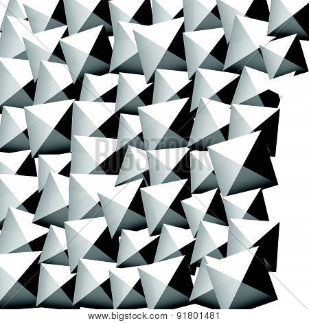 Studded, Pointed Background, Seamless Pattern. Vector.