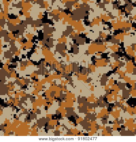 Army desert digital camouflage pattern background