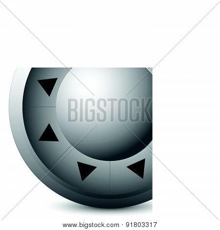 Control Button Template Interface, Ui Element. Vector.