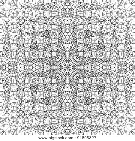 Black And White Repeating Pattern With Abstract Geometry