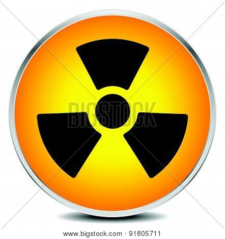 Simple Radiation, Radioactivity Sign. Eps 10 Vector Illustration.