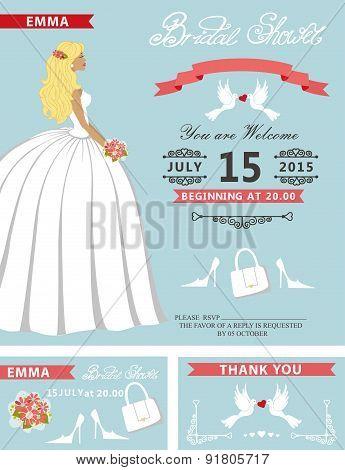 Bridal shower template set.Lovely Bride