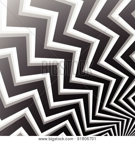 Zigzag Shapes Abstract Background. Editable Vector Illustration.