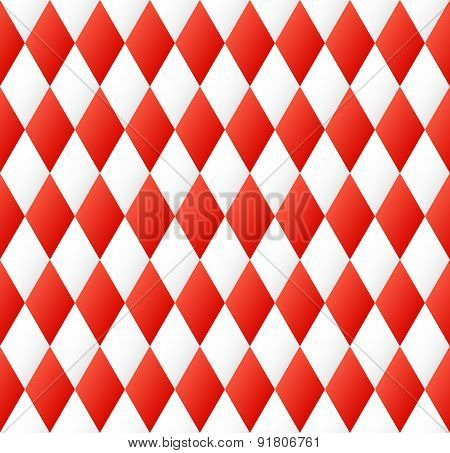 Seamless Diamond Pattern In Red And White