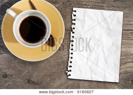 Note Paper On Coffee Table