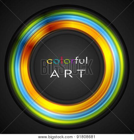 Colorful glowing circle concept logo. Vector design