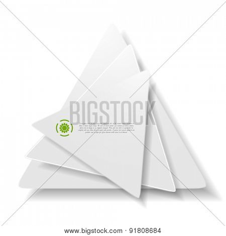 Vector background of concept triangle shapes. Grey colors technology logo