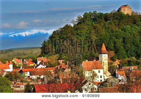 Village Of Cisnadioara View