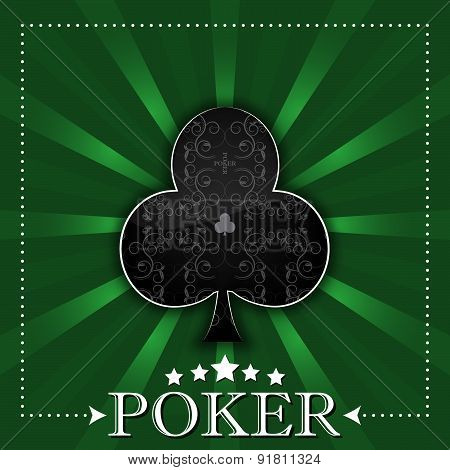 Poker background or poster with card symbol