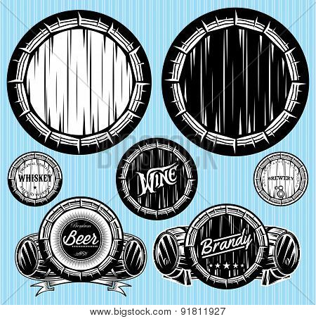 Set Of Patterns For Monochromatic Emblems With Barrels