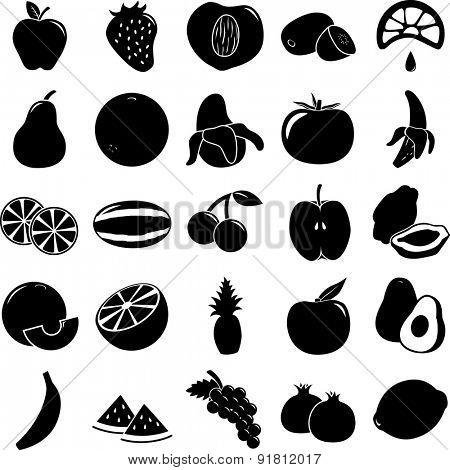 fruit symbols set