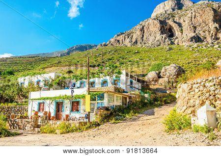 Typical white greek house, Kalymnos, Greece