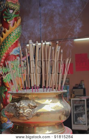 bronze cup incense sticks