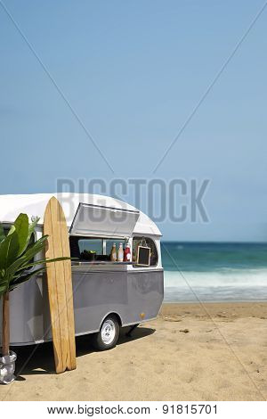 Slow Food Caravan On The Beach