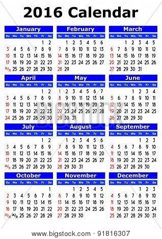 Simple Vector Calendar