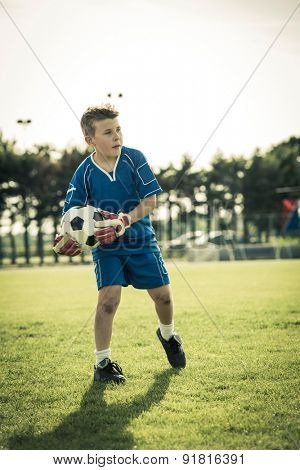 Young goal keeper