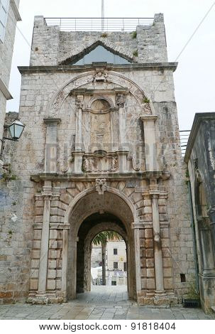 City gate of Korcula in Croatia