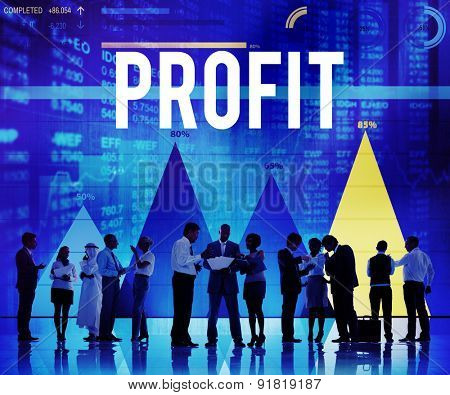 Profit Benefit Accounting Gain Finance Income Concept