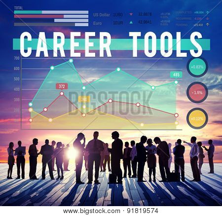 Career Tools Plan Planning Strategy Concept