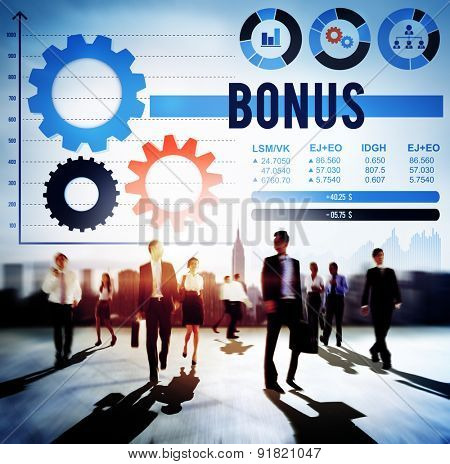 Bonus Profit Salary Finance Income Money Concept