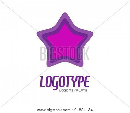 Star. Abstract vector logo design elements. Arrows, labels, symbols. Vector illustration