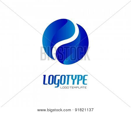 Circle. Abstract vector logo design elements. Arrows, labels, symbols. Vector illustration