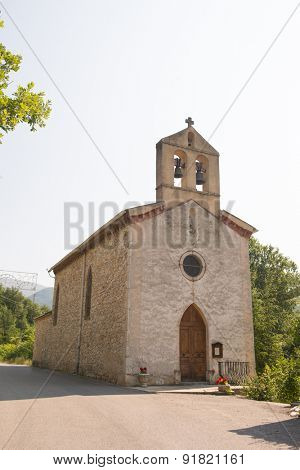 Little church in St. Ferreol aux Trente pas