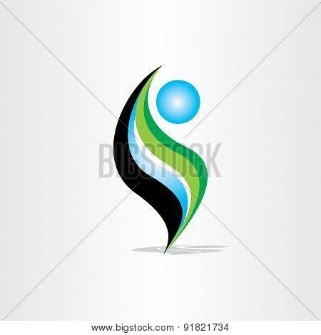 Man Icon Yoga And Spa Symbol