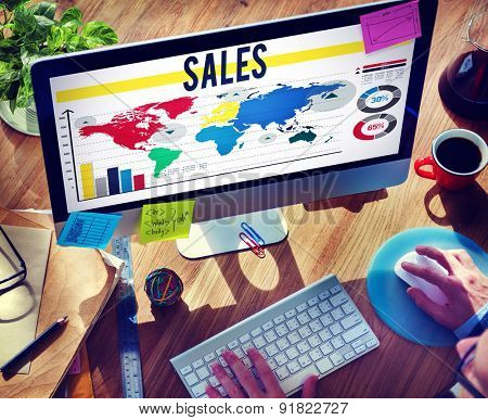 Sales Accounting Financial Selling Banking Concept