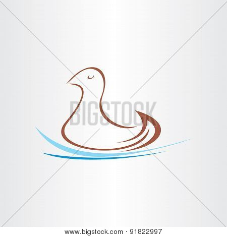 Stylized Duck In Water Design