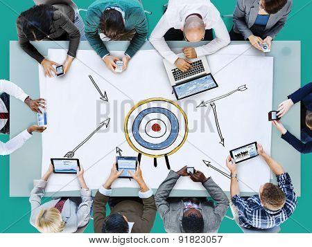 Goal Target Success Aspiration Aim Inspiration Concept