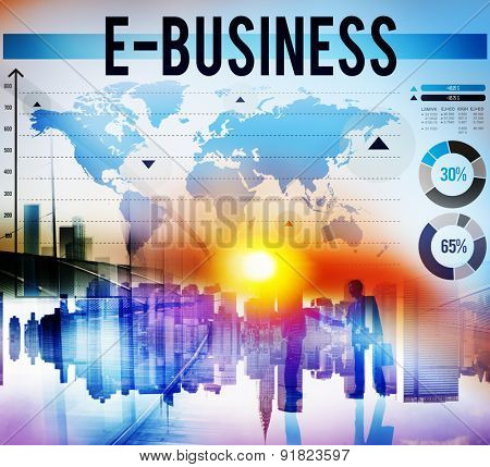 E-Business Online Networking Technology Marketing Commerce Concept
