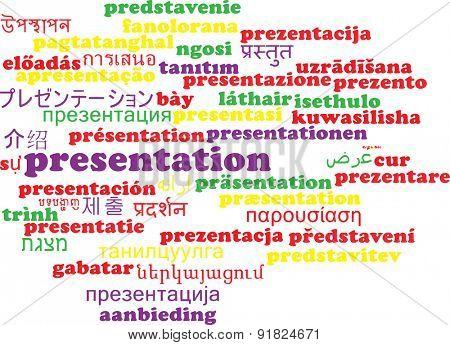 Background concept wordcloud multilanguage international many language illustration of presentation