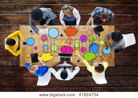 Multiethnic Group of People in Meeting Concept