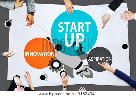 Startup Business Plan Innovation Aspiration  Concept