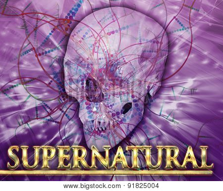 Abstract background digital collage concept illustration supernatural occult