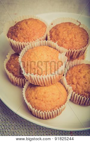 Vintage Photo Of Fresh Baked Homemade Muffins