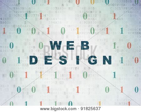Web development concept: Web Design on Digital Paper background
