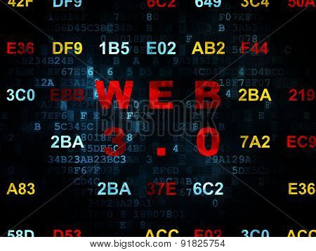 Web design concept: Web 3.0 on Digital background