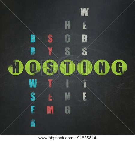 Web development concept: word Hosting in solving Crossword Puzzle