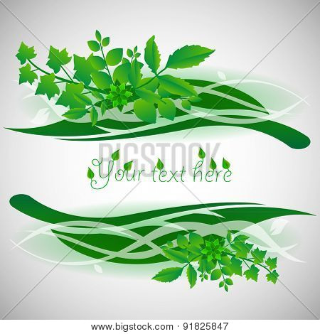 Natural Background Design with Leaves