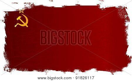 Ussr Flag Grunge