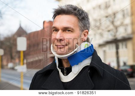 Man Suffering From Neck Ache
