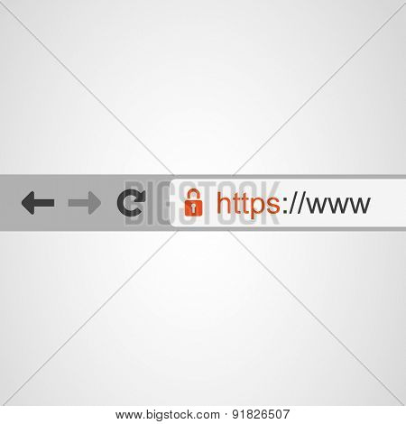 Browser Address Bar with Https Protocol
